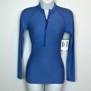 J.Crew $75 Solid Long-Sleeve Rash Guard Blue
